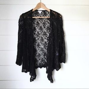 WESTPORT Black Lace Top